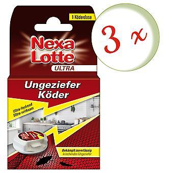 Sparset: 3 x NEXA LOTTE® Ultra Vermin Bait, 1 piece