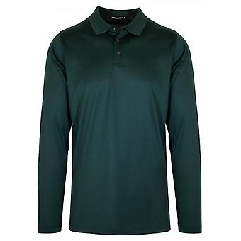 Lagerfeld Green Contrast Kraag Polo Shirt