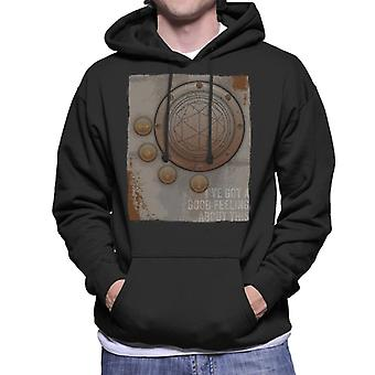 The Crystal Maze Second Good Feeling Rust Panel Men's Hooded Sweatshirt