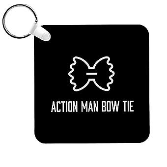 Alan Partridge Action Man Bow Tie Keyring