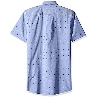 Goodthreads Men's Slim-Fit Short-Sleeve Dobby Camicia, -fiore blu, XXX-Large