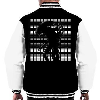 Xenomorph White Outline Alien Men's Varsity Jacket