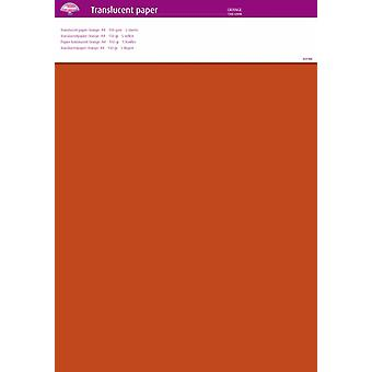 Pergamano Translucent Paper Orange A4 150 gsm 5 Sheets