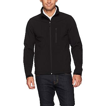 Essentials Men's Water-Resistant Softshell Jacket, Black, Medium