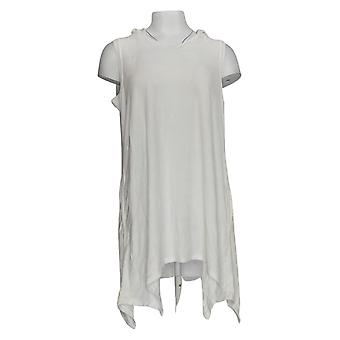 AnyBody Women's Petite Top Baby Terry Tunic White A354754