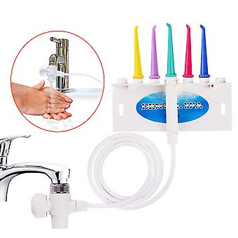 Faucet Water Dental Flosser Oral Jet Water Irrigation Flossing Teeth Brush