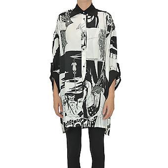 Loewe Ezgl248024 Kvinder's Sort Viskose Shirt