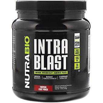 NutraBio Labs, Intra Blast, Intra Workout Amino Fuel, Tropical Fruit Punch, 1.6