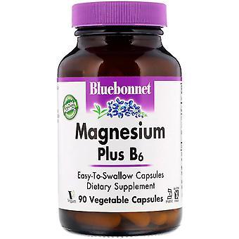 Bluebonnet Nutrition, Magnesium Plus B6, 90 Vegetable Capsules