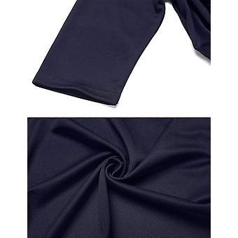 Women's 3/4 Sleeve Cropped Bolero Shrug Open Front Cardigan (Blue, XX-Large)