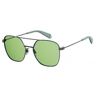 نظارات شمسية للجنسين 6058/S1ED/UC فضة/ خضراء