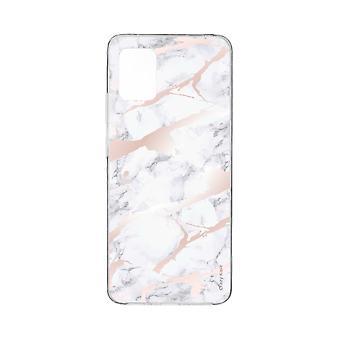Scafo per Xiaomi Mi 10 Lite Effetto Marmo Rosa Morbido