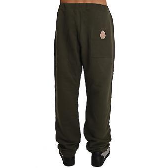 Green Fleece Mens Gym Trouser BIL2051-1