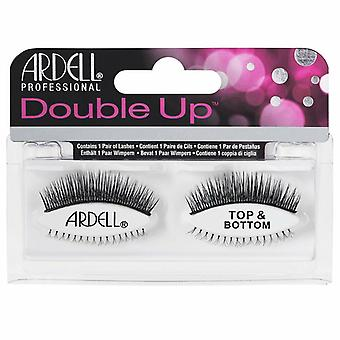 Ardell Double Up Handmade False Lashes - Top & Bottom Gene - Dublu stratificat