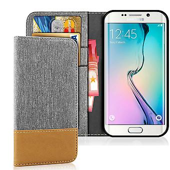 Mobile Shell Wallet for Samsung Galaxy S6 Edge Synthetic Leather Magnet Shockproof Protection