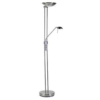 Leds-C4 - 2 Light Floor / Reading Lamp Satin Nickel