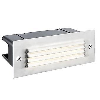 Saxby Seina - integrierte LED Outdoor Einbauwand Licht Marine Grade gebürstet Edelstahl, Frosted IP44