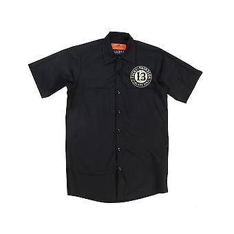 Lucky 13 men's short-sleeved shirt Blacksin