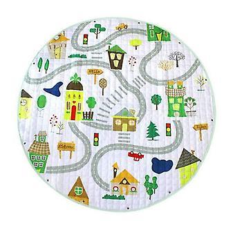 Pyöreä muoto, liukastumisenesteiset ja sarjakuvaeläimet Design-baby Play Lattiamatot