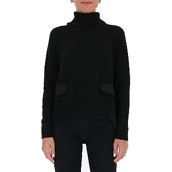 Semi-couture Y0wc02y690 Women's Black Wool Sweater