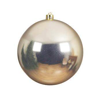 Single Champagne Gold 14cm Shatterproof Christmas Tree Bauble Decoration