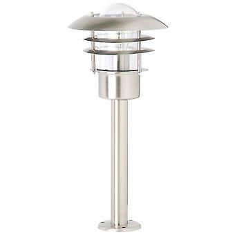 BRILLIANT lampe Terrence udendørs base lampe 50cm rustfrit stål | 1x A60, E27, 60W, egnet til normale lamper (ikke inkluderet)