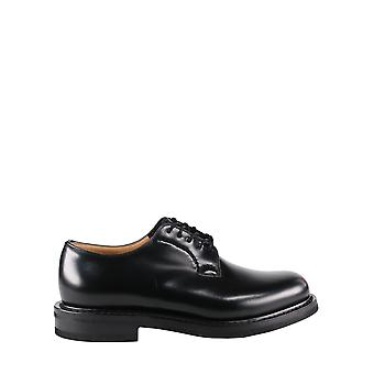 Church's Eec3069xvf0aab Men's Black Leather Lace-up Shoes