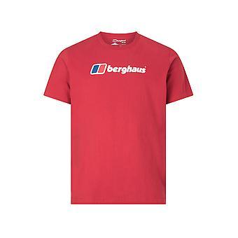 Berghaus Gran Corporativo Logo Hombres manga corta camiseta al aire libre camiseta roja