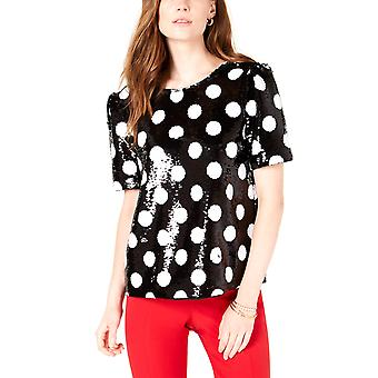 Maison Jules | Sequined Polka-Dot Top
