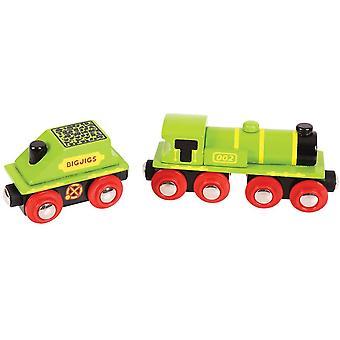 Bigjigs Rail Big Green Engine & Coal Tender