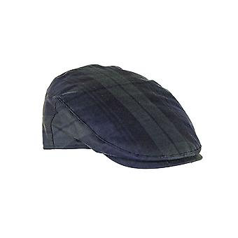 ZH183 (BLACKWATCH S 56cm ) Charles Tartan Wax Flat Cap