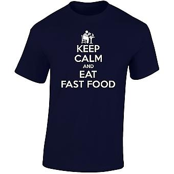 Keep Calm And Eat Fast Food Mens T-Shirt 10 Colours (S-3XL) by swagwear