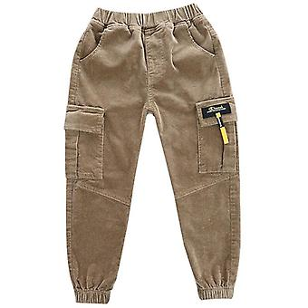 Boys' Corduroy Pants 3-13 Years Old Kid's Thick Pants Cashmere Big Children's Autumn And Winter Clothes Boys Overalls