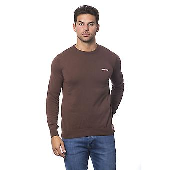 Roberto Cavalli Sport Marrone Crew Neck Brown Sweater