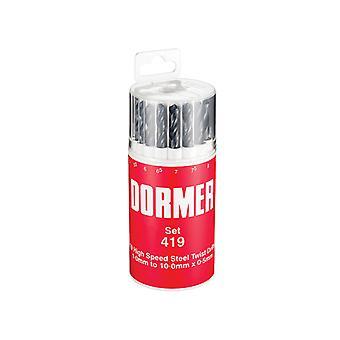 Dormer A191 No.419 Metrisk HSS Drill Set på 19 1,0-10,0 x 0,5 mm DORSET419