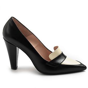 Moskno Anna F schwarz und weiß mit High Heel