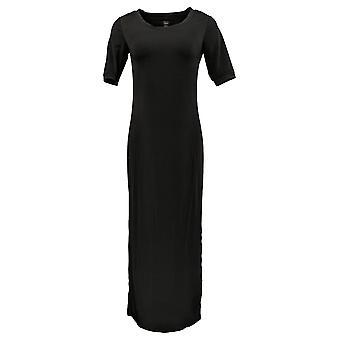 G.I.L.I. got it love it Dress Regular Short Slv Side Slit Black A304668