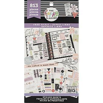 Happy Planner klistermärke värde Pack-Free Spirit, 813/pkg