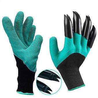 Gardening Gloves With Claws Abs Plastic, Easy Raking Planting Dig, Lawn Care