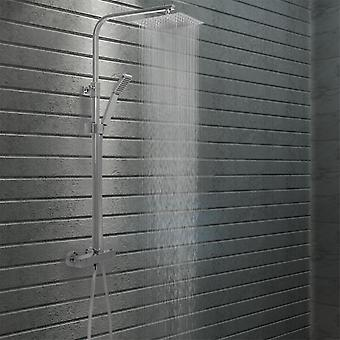 Double head shower set with stainless steel thermostat