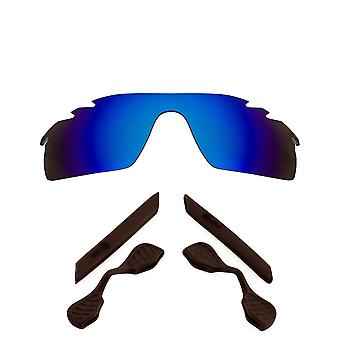 Polariserade ersättningslinser Kit för Oakley Vented Radarlock Path Blue Brown Anti-Scratch Anti-Glare UV400 av SeekOptics