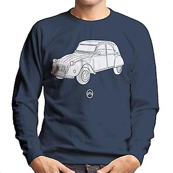 Citro?n 2CV Angle For Dark Men's Sweatshirt