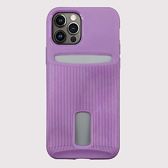 Purple iphone 12 pro case with card holder
