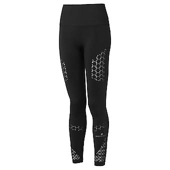 Ronhill Life Seamless Womens Stretchy & Breathable Running Tights All Black