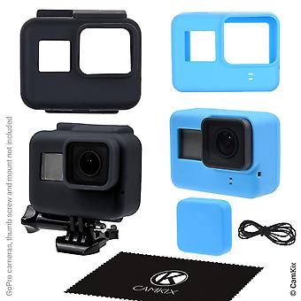 Camkix silicone sleeve cases compatible with gopro hero 7/6 / 5 black - 2 protective covers - black