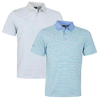 Callaway Golf Hombres Lápiz Stripe Moisture Wicking Golf Polo Camisa