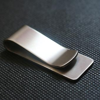Ruostumaton teräs Slim Pocket Men Design Money Clip Lompakko / Metallinen Bill Clamp