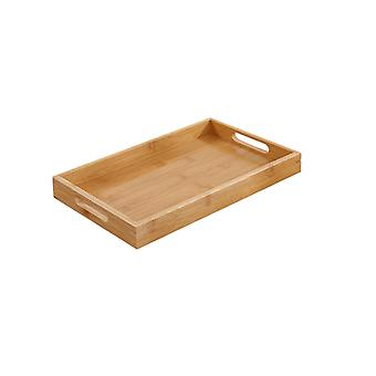 YANGFAN Serving Tray Bamboo-Wooden Tray with Handles
