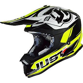 Just 1 J32 Pro Rave MX Full Face Off Road Helmet Yellow Black ACU Gold