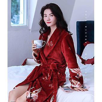 الشتاء الدافئ الشعاب الصوف ملابس النوم النوم الإناث بيجامة الملابس المنزلية